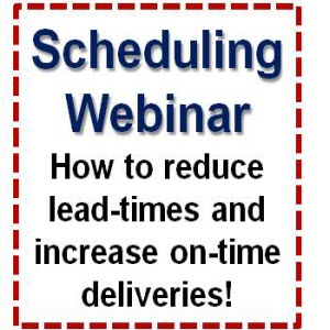 Job Shop & Machine Shop Scheduling WEBINAR